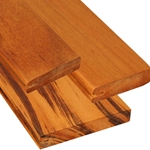 Pregrooved One-Sided Tigerwood Decking