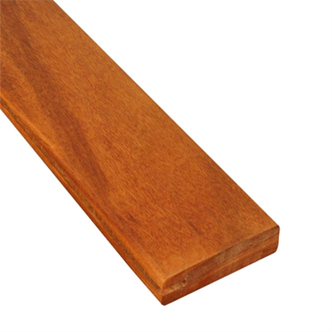 1x4 One-Sided Pregrooved Tigerwood Decking