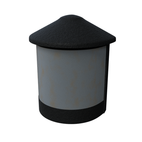 Geneva Deck Post Light, Textured Black