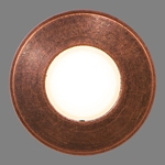 "7/8"" Round Recessed LED Light, Antique Bronze"