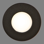 "7/8"" Round Recessed LED Light, Textured Black"