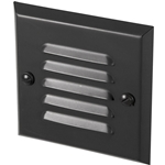 Louver Step Light, Textured Black